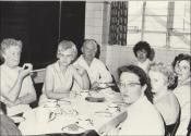 Blodwen in the Cookes canteen, 1960s