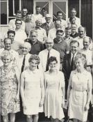The Cookes Works Committee, Blodwen front row on the right, 1960s