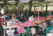Women working in the Laura Ashley factory, 1980s