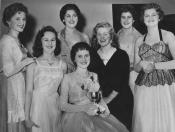 Anita Jeffery (second from left) coming second in the 'Miss Polikoff' competition